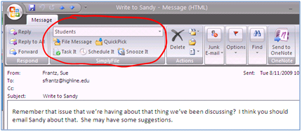 SimplyFile: An Outlook Addin | Technology for Educators